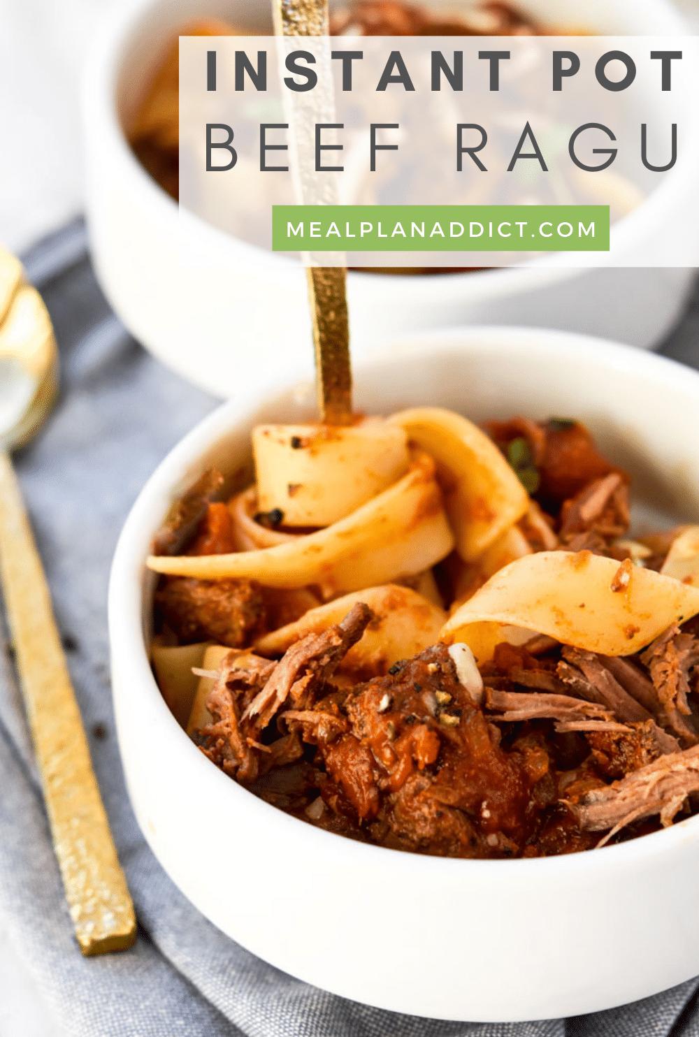 45 Minute Instant Pot Beef Ragu | Meal Plan Addict