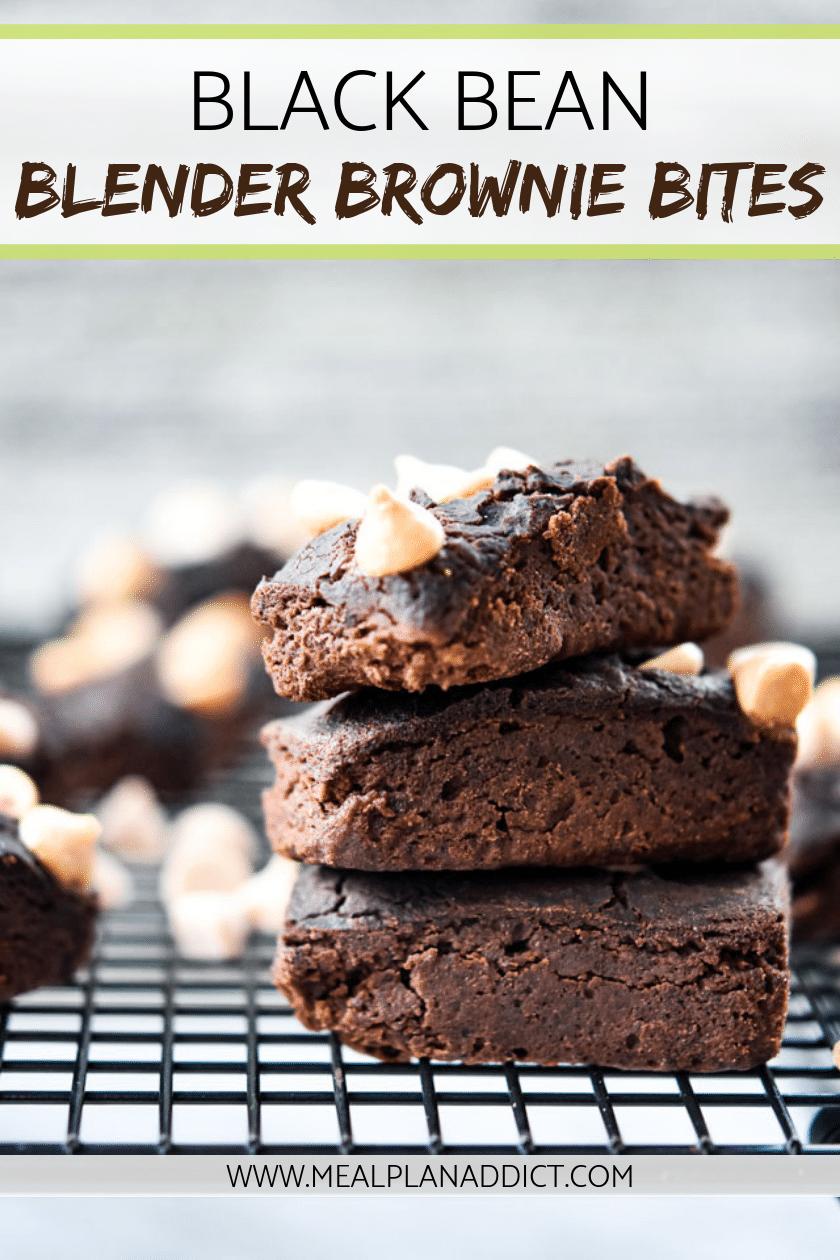 Black Bean Blender Brownie Bites