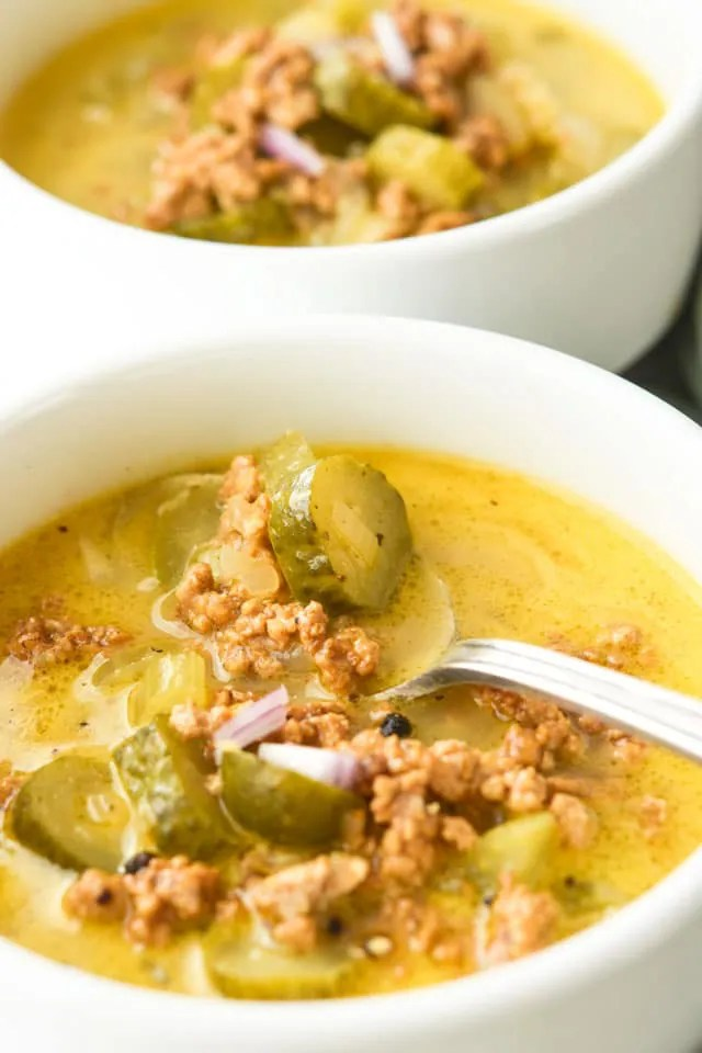 Healthy-Dill-icious Cheesburger Soup3