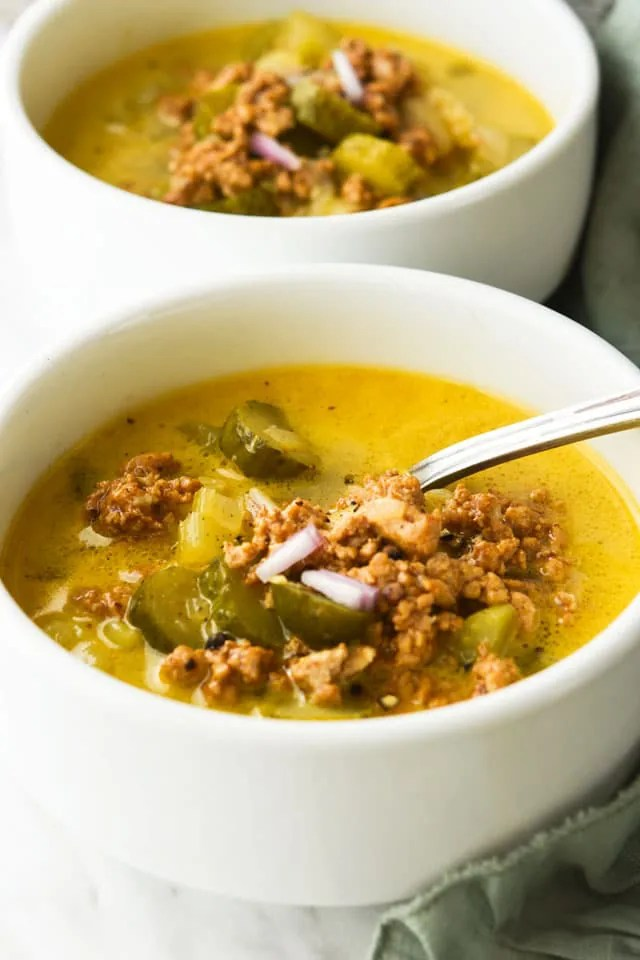 Healthy-Dill-icious Cheesburger Soup4