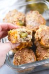 Cheeseburger Meatloaf Minis-bite