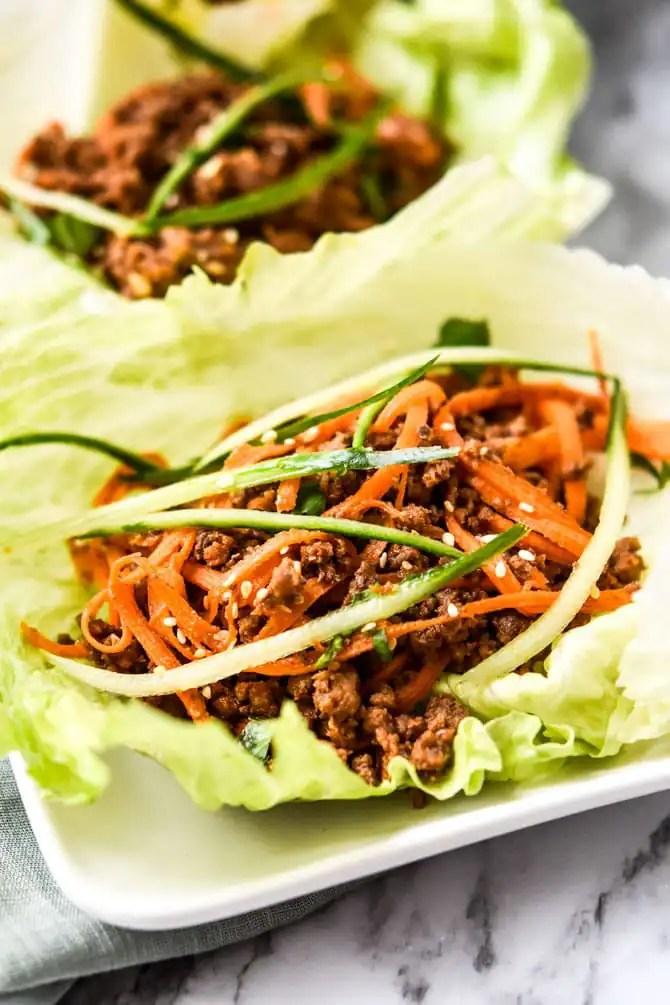 Gochujang Beef Lettuce Cups2
