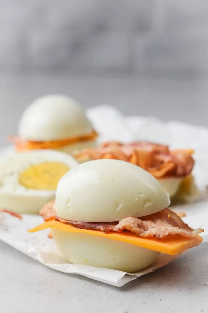 low carb bacon and egger sandwich