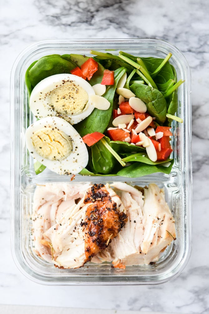 1 Rotisserie Chicken, 4 Meal Prep Lunches