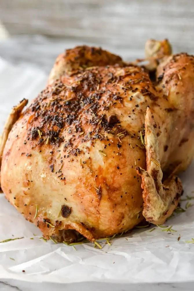 Air Fryer Garlic Rosemary Rotisserie Chicken-3
