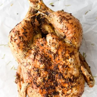 Air Fryer Garlic Rosemary Rotisserie Chicken-4