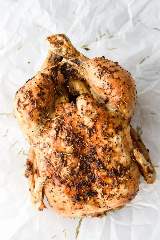 Air Fryer Garlic Rosemary Rotisserie Chicken-4