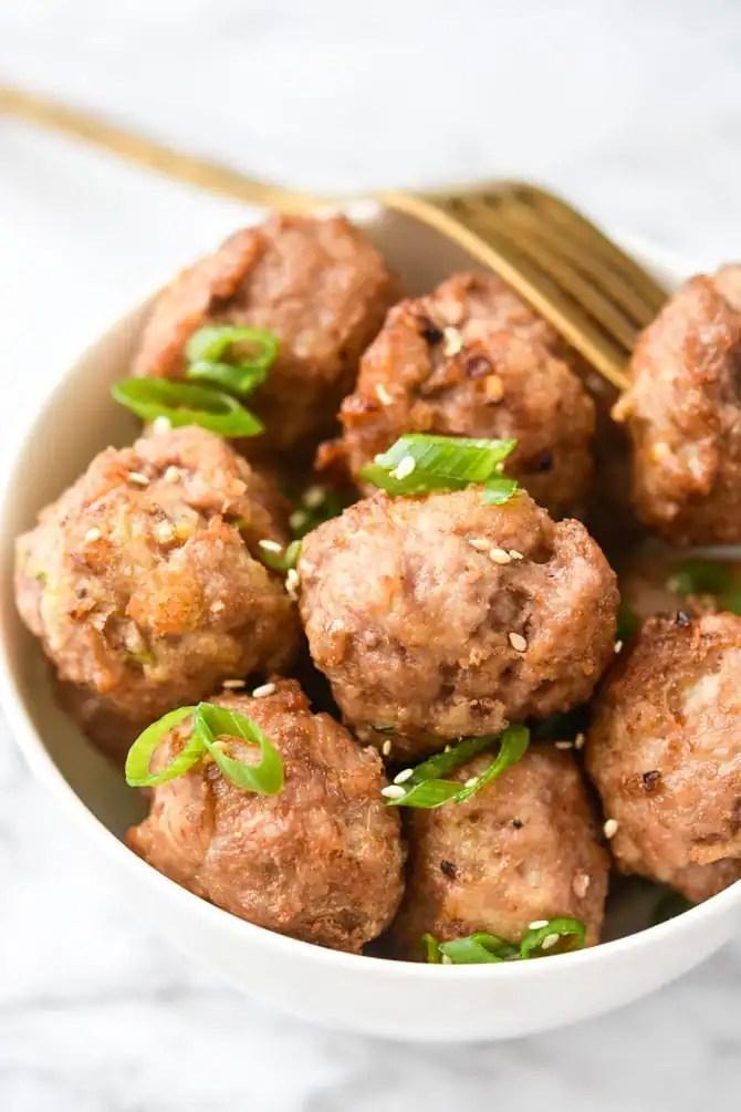 Easy Asian Pork Meatballs-9