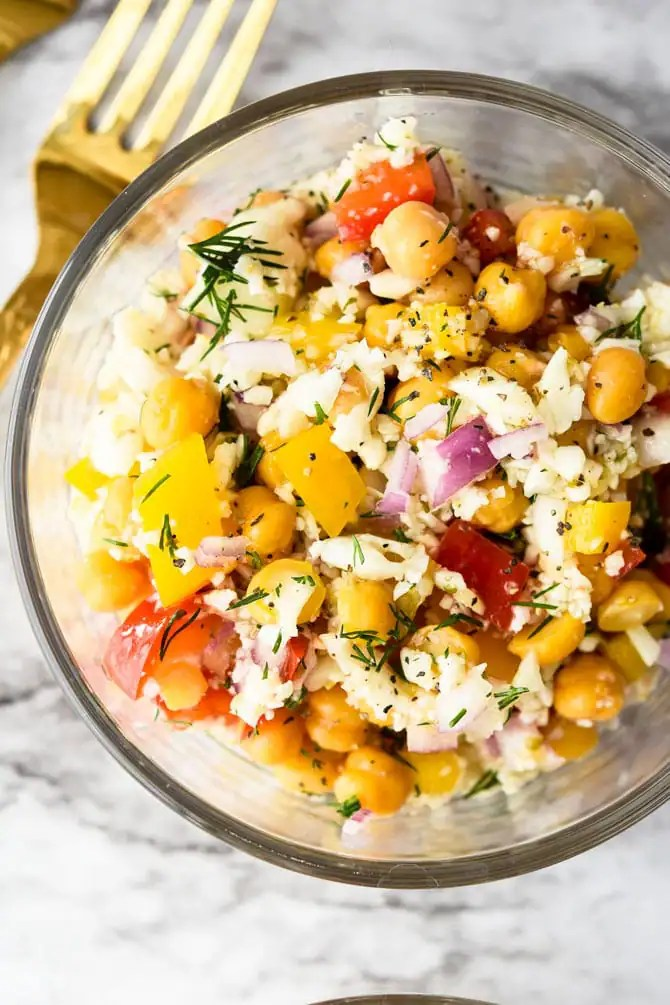 Mediterranean Cauliflower Chickpea Salad-2