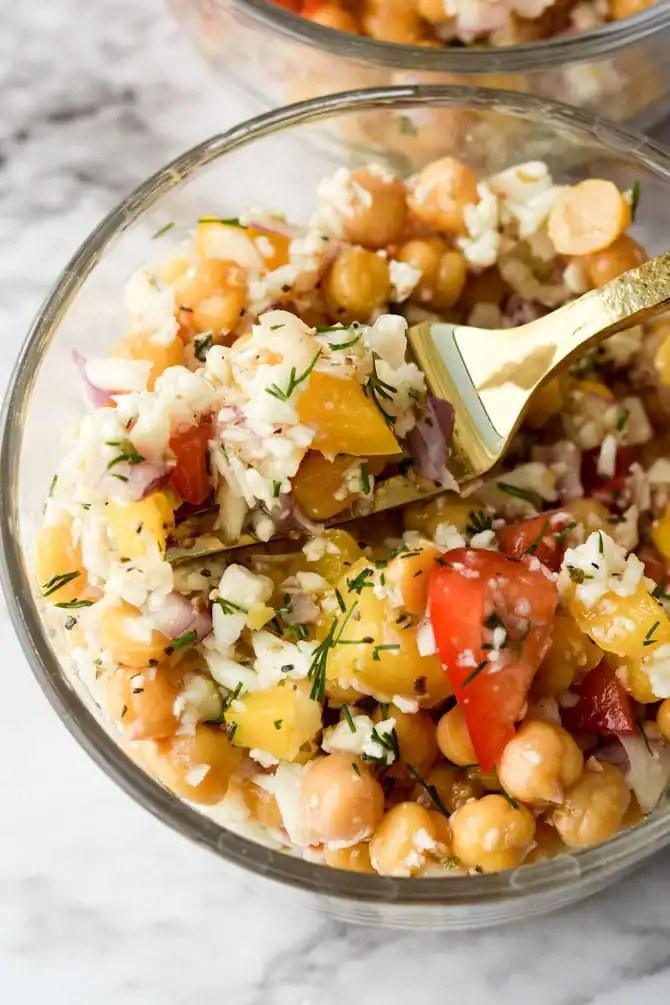 Mediterranean Cauliflower Chickpea Salad-3