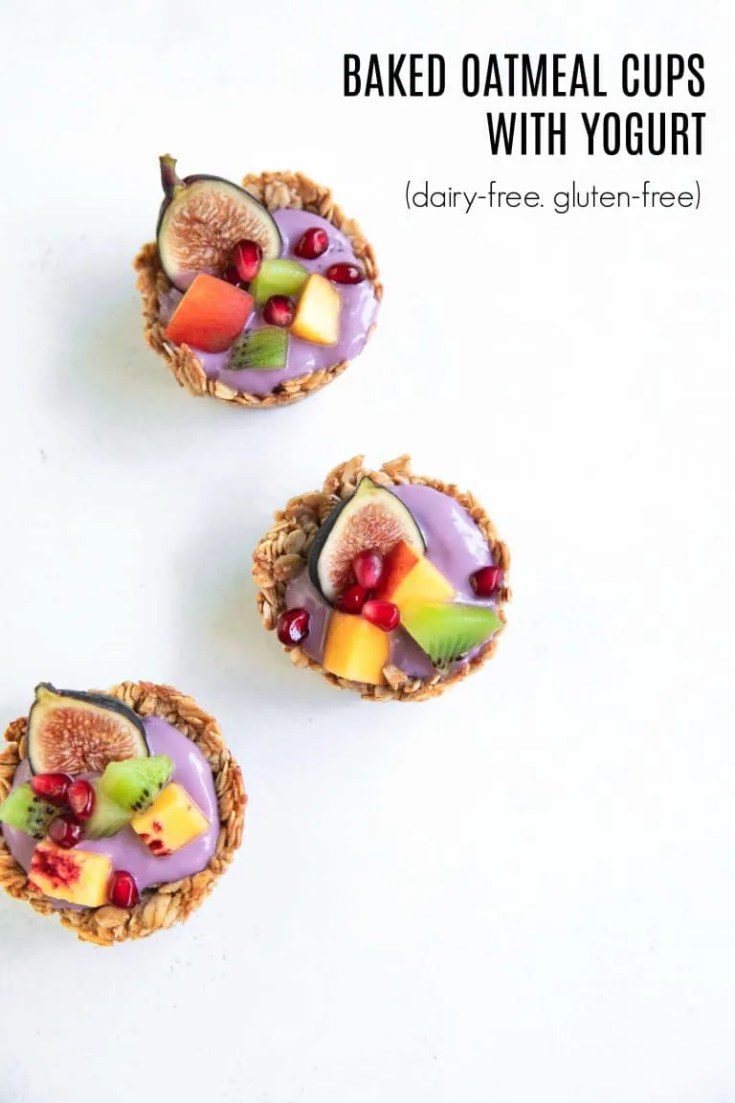 Baked Oatmeal Cups with Yogurt and Fresh Fruit