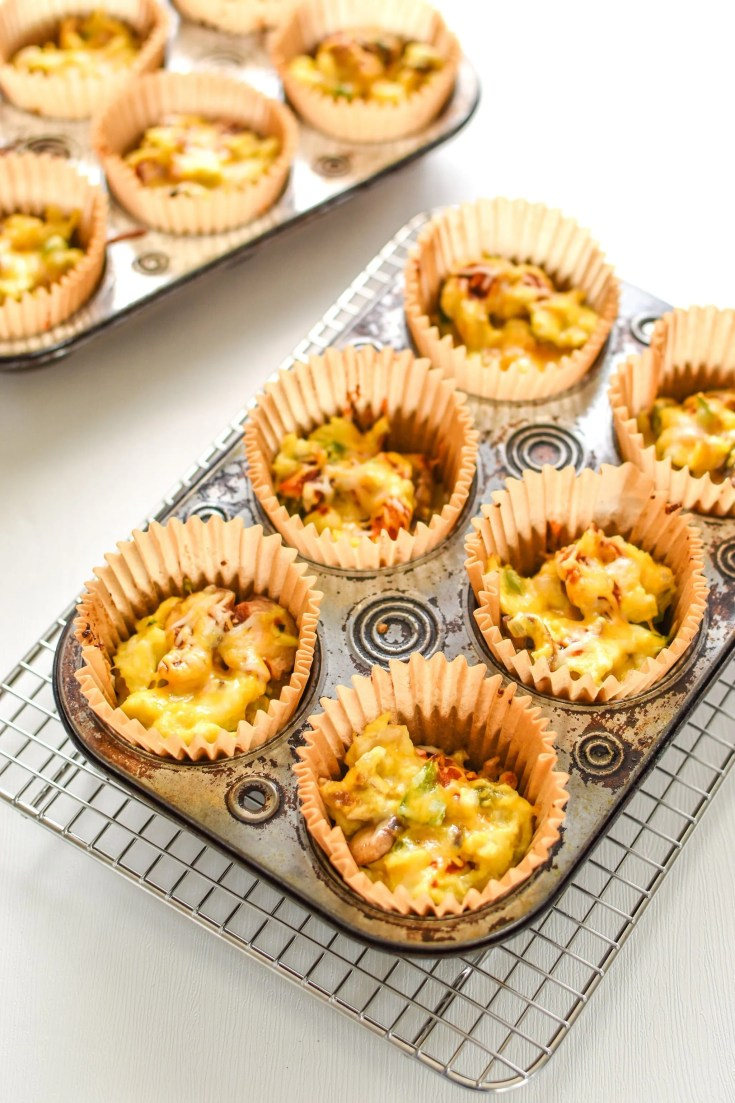 Southwest Muffin Tin Hash Brown Egg Cups