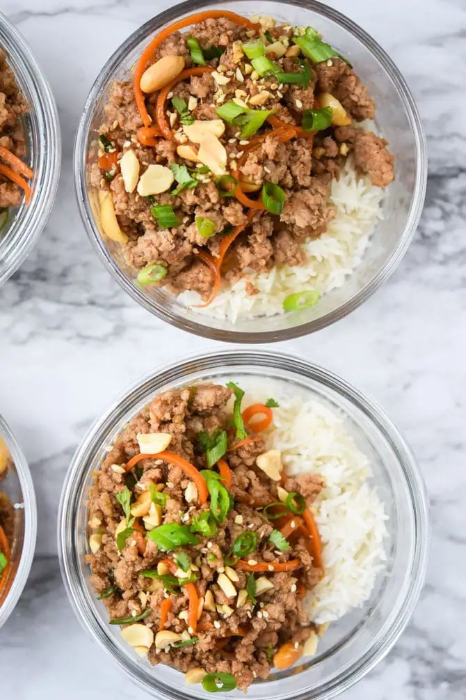 sriracha hoisin ground pork bowls-3