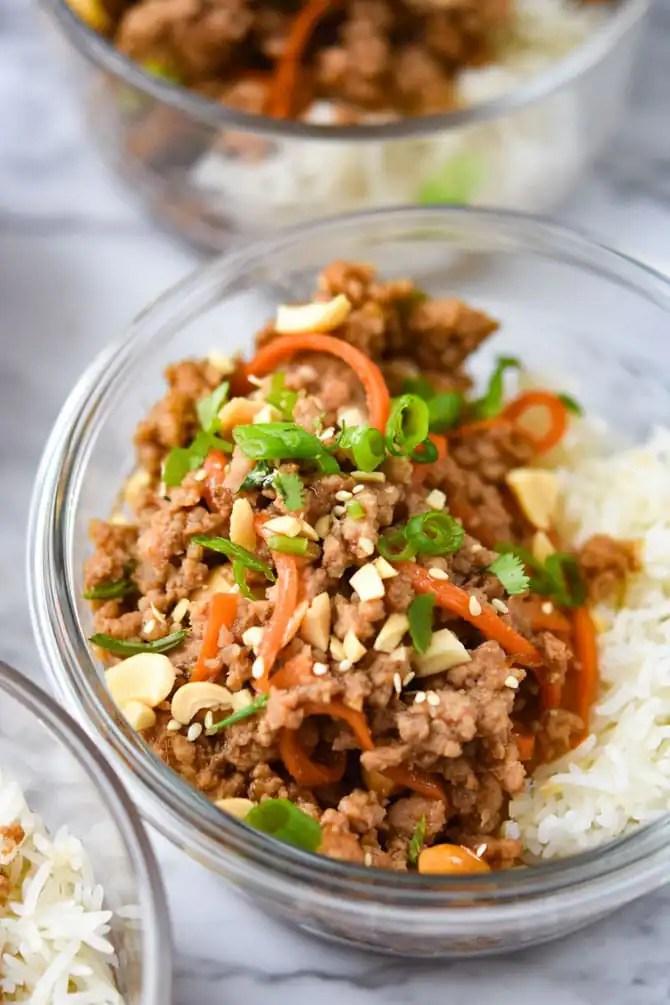 sriracha hoisin ground pork bowls-4