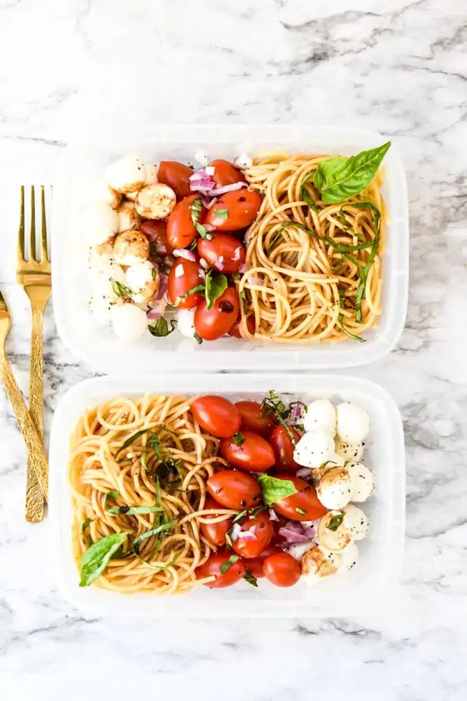 Caprese Cold Noodle Meal Prep