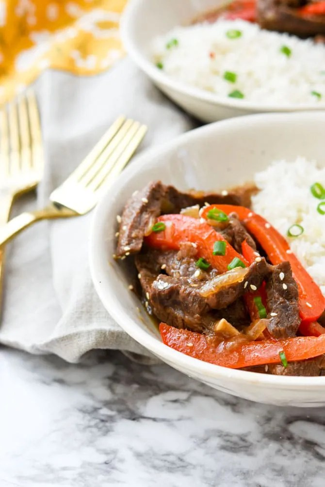 Instant Pot Ginger Beef Stir Fry-6