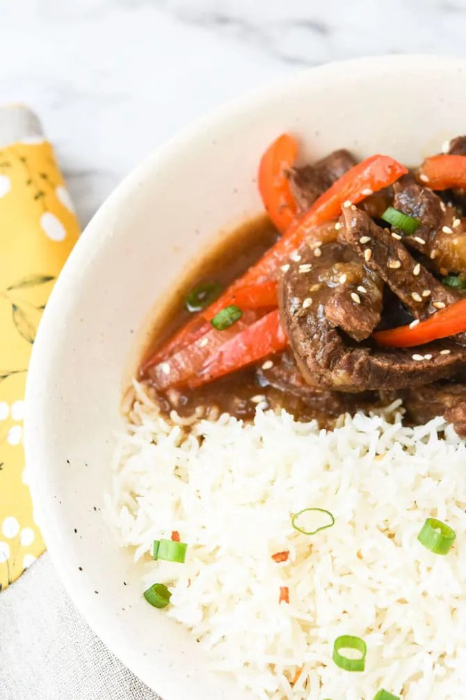 Instant Pot Ginger Beef Stir Fry-7
