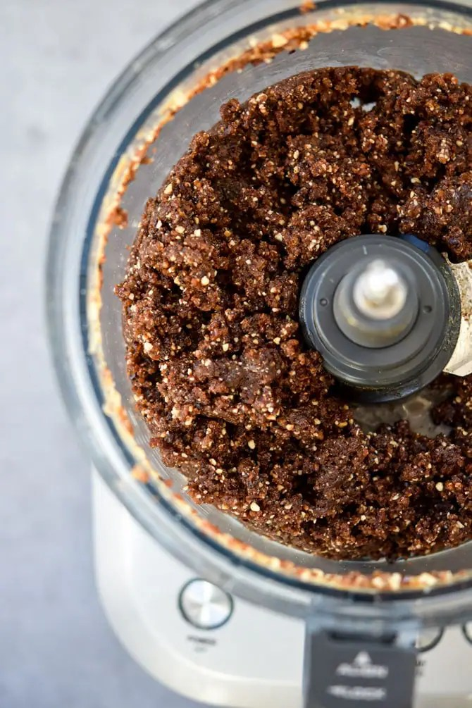 Easy No Bake Energy Bars Process - in food processor