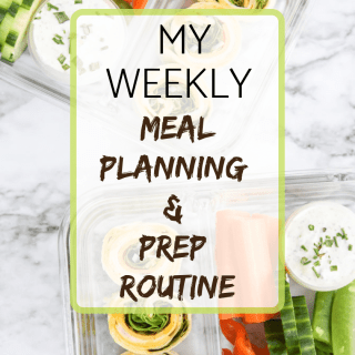 WEEKLY MEAL PLANNING & PREP ROUTINE