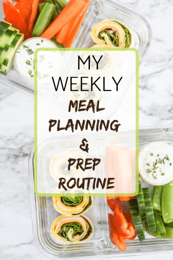 WEEKLY MEAL PLANNING & PREP ROUTINE
