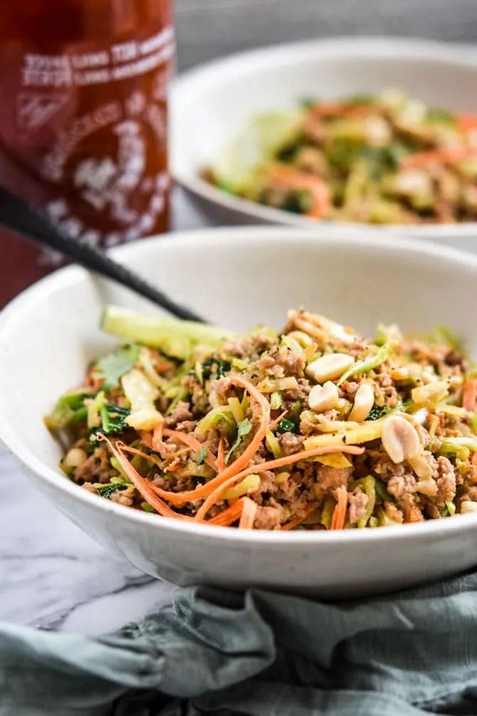 Thai Peanut Ground Pork Bowl-5