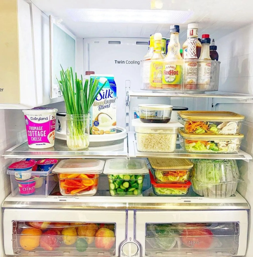 prepped meal plan addict fridge
