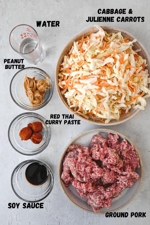 Spicy Peanut Ground Pork Stir Fry