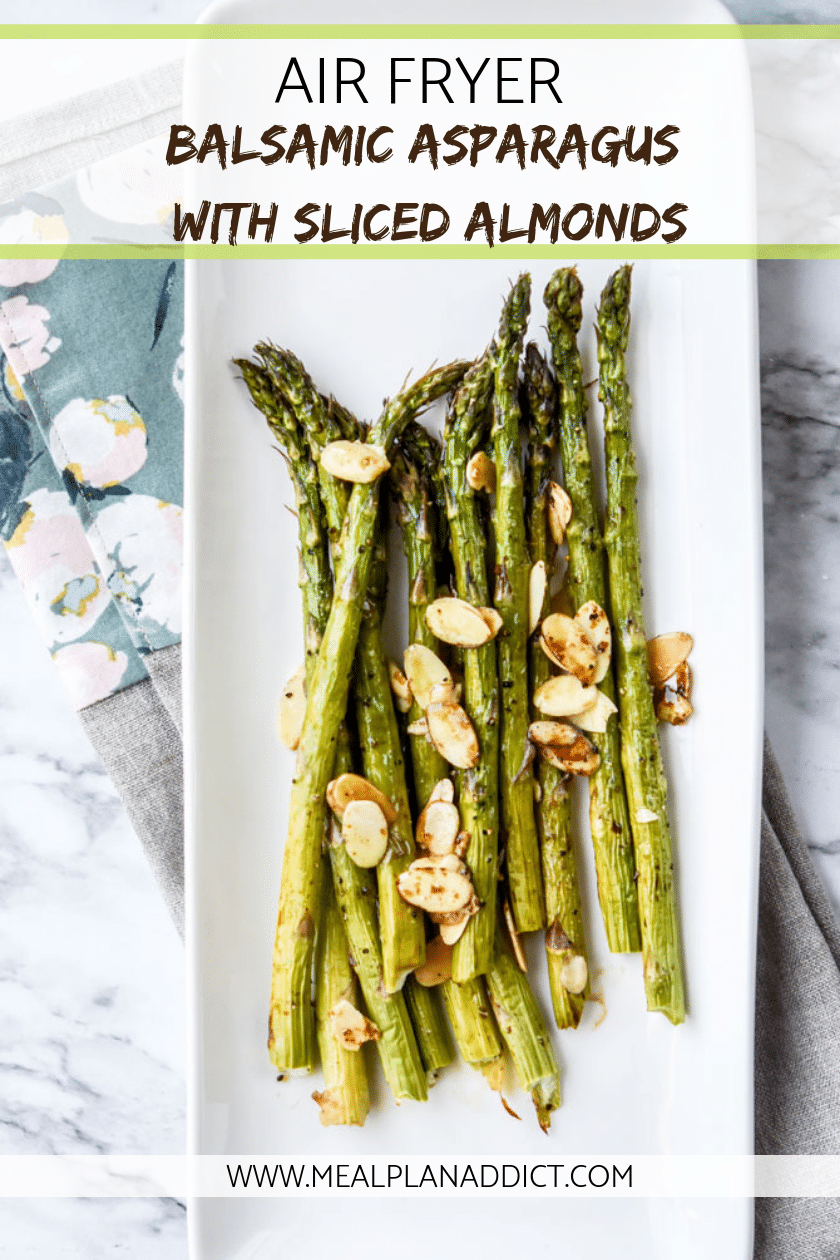 Air Fryer Balsamic Asparagus with Sliced Almonds