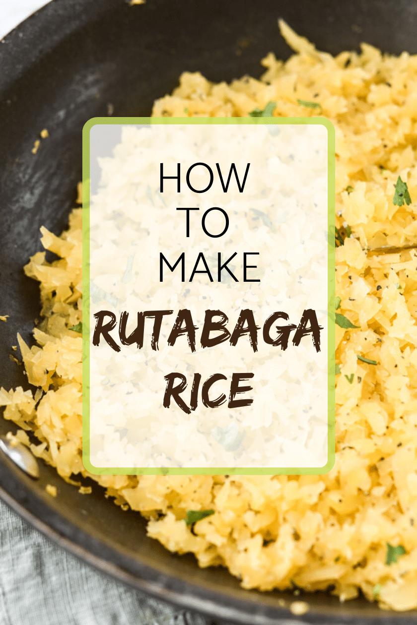 How to make rutabaga rice