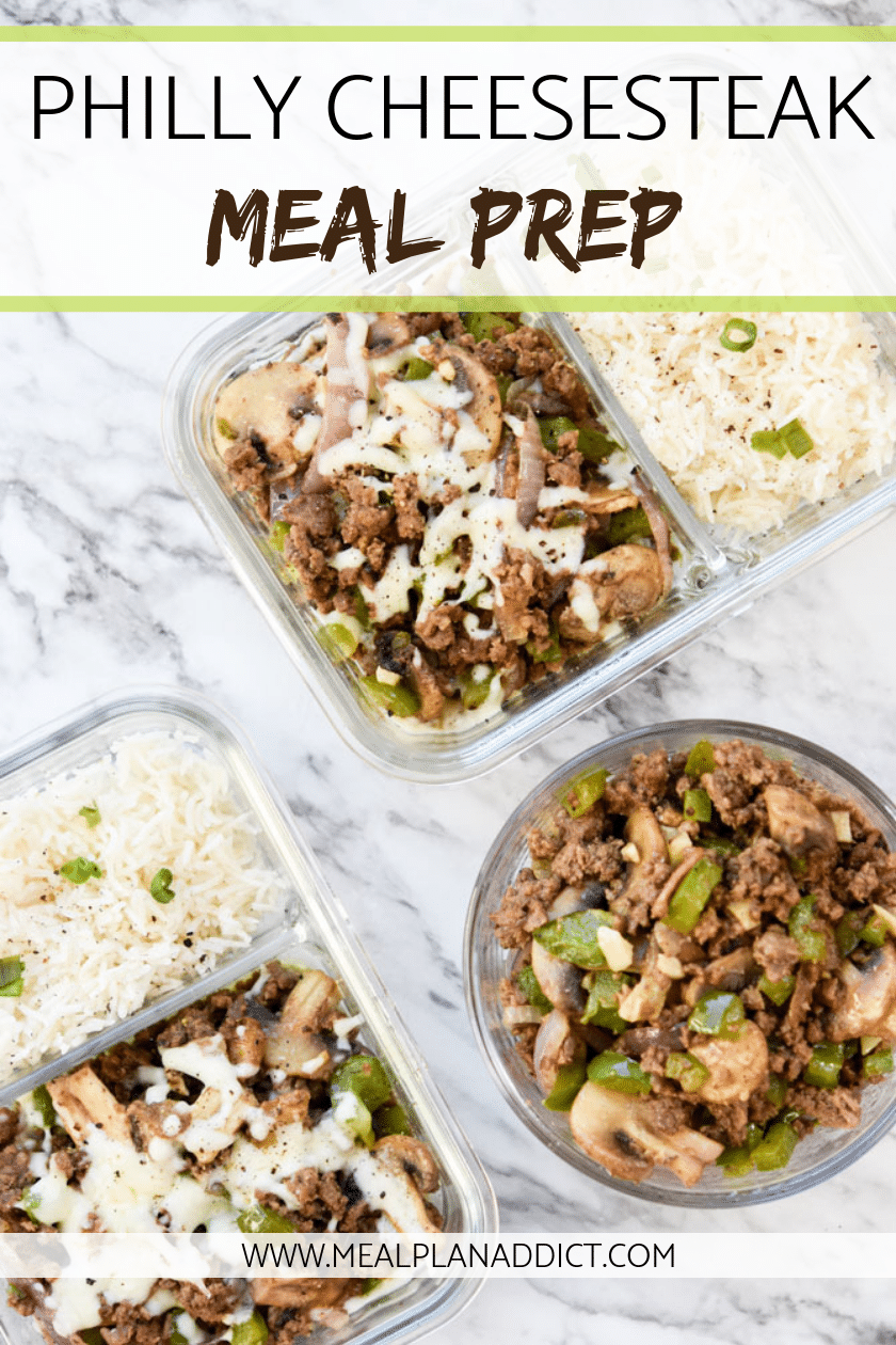 Philly Cheesesteak Meal Prep