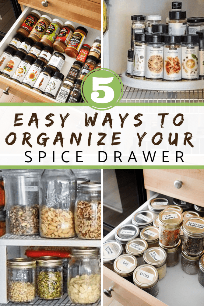 5 easy ways to organize your spice drawer