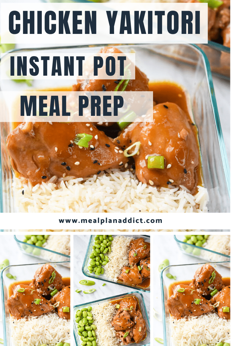 Instant Pot Chicken Yakitori Meal Prep