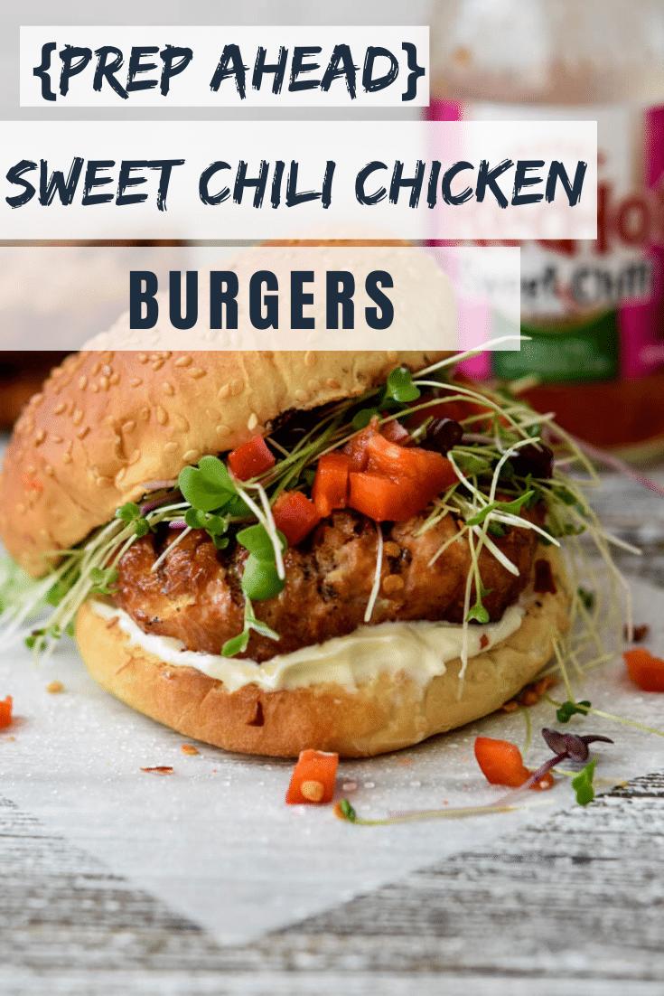 Sweet Chili Chicken Burgers