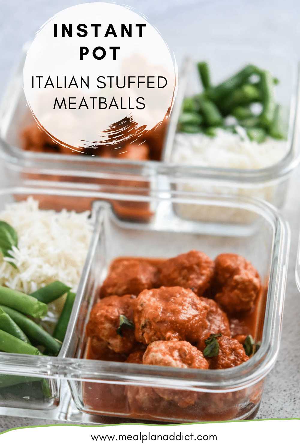Instant Pot Italian Stuffed Meatballs