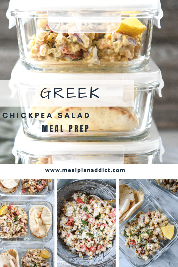 Greek Chickpea Salad Pita Meal Prep