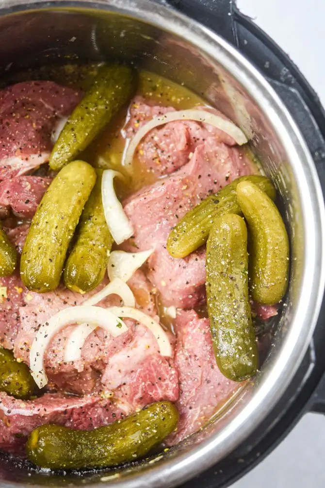 pickle beef ingredients raw in instant pot