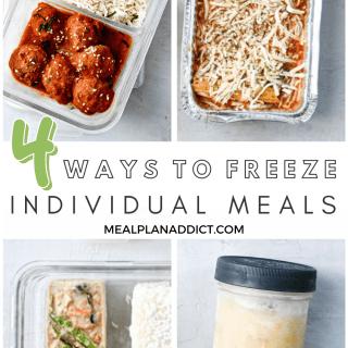 4 Ways to Freeze Individual Meals