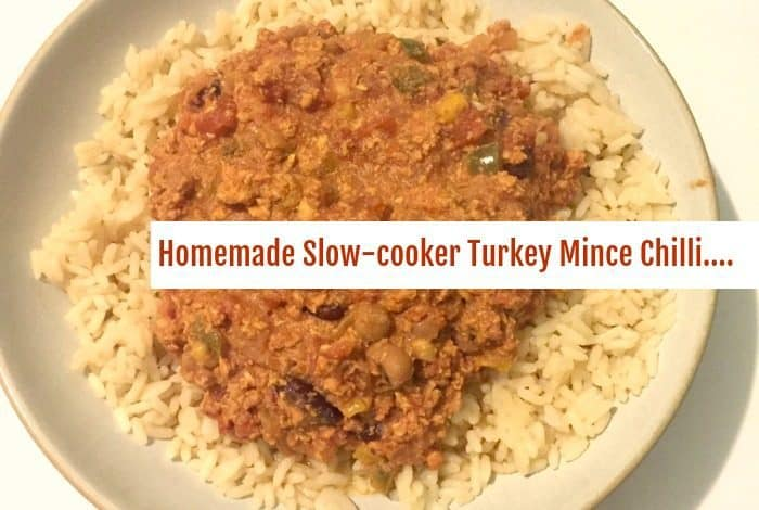 Slow cooker turkey mince chilli