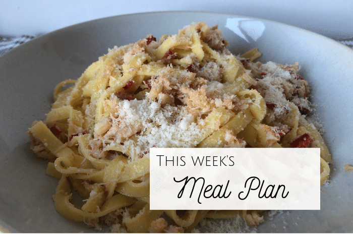 This week's meal plan (3)