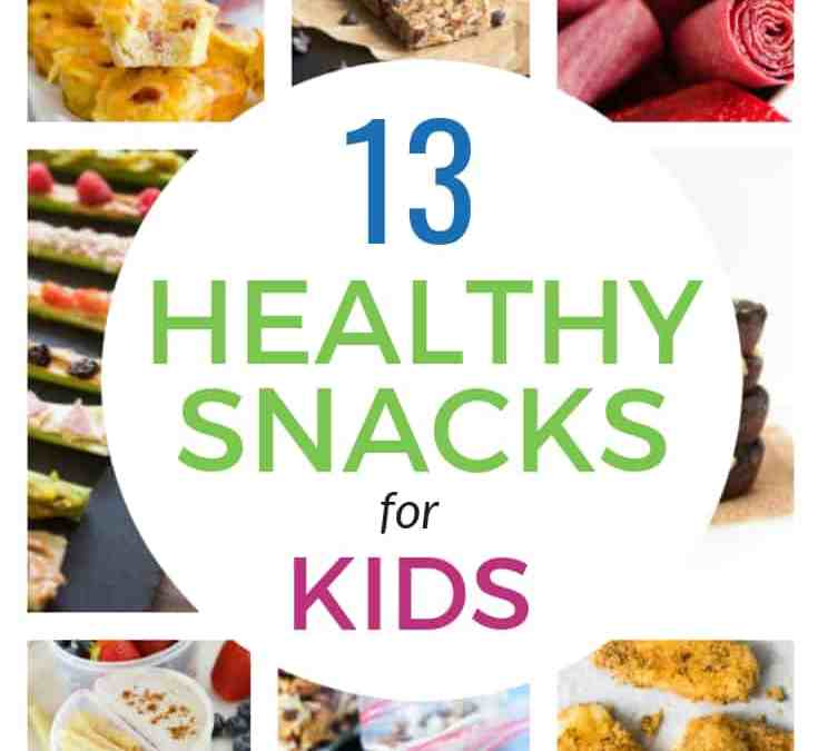 13 Healthy Homemade Snacks (perfect for kids lunch boxes)