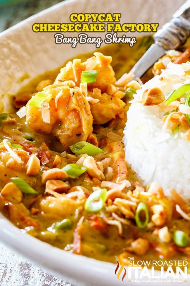 Bang bang shrimp recipe for those that miss the Cheesecake Factory using these copy cat restaurant recipes. Save money plus help your family adapt more easily to a meal plan with these 20 restaurant favourite recipes.