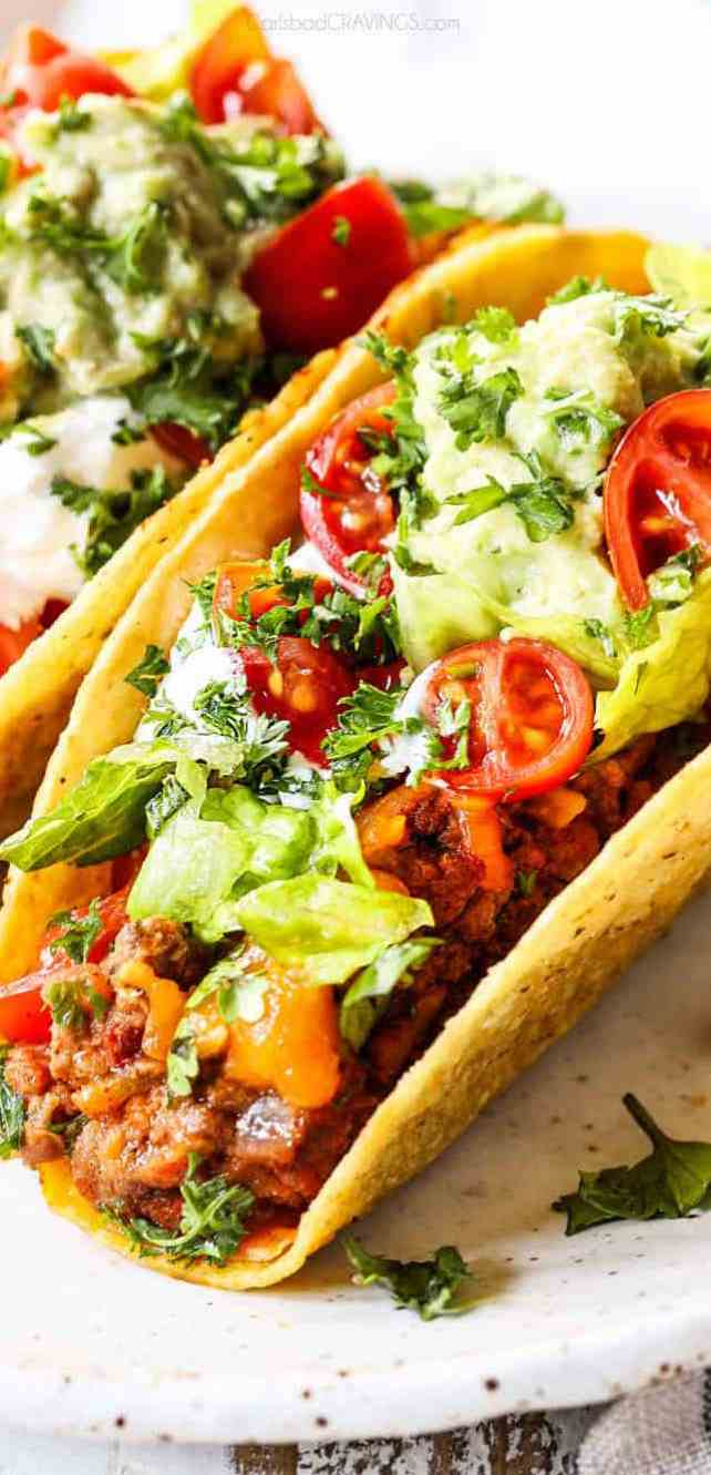 Easy taco recipe for those that miss their Mexican takeout using these copy cat restaurant recipes. Save money plus help your family adapt more easily to a meal plan with these 20 restaurant favourite recipes.