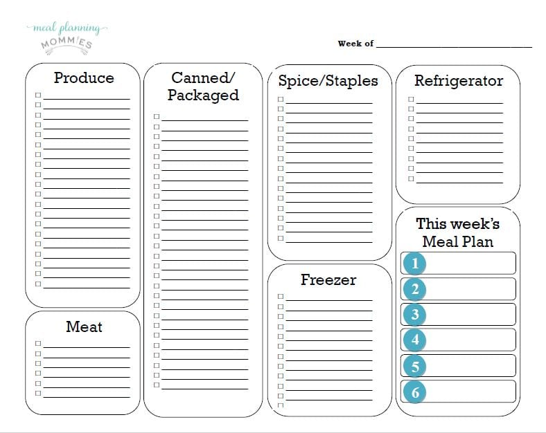 free printable grocery list template  new and improved