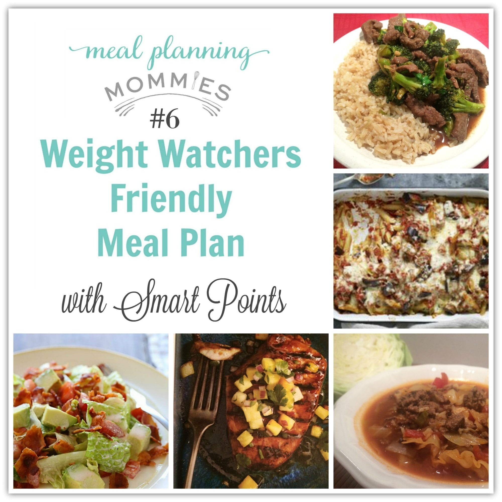 Weight Watcher Friendly Meal Plan 6 With Old Smart Points