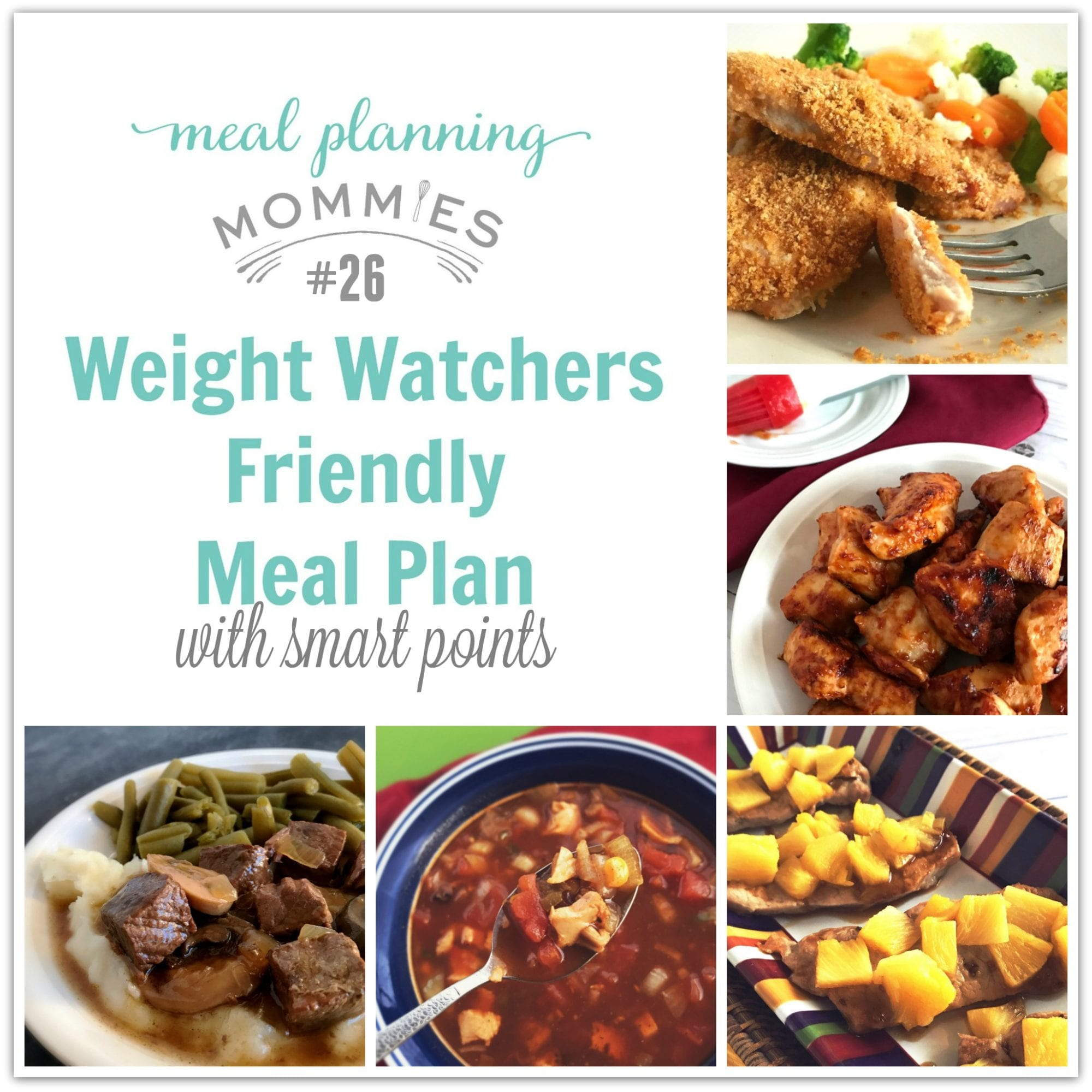 Weight Watcher Friendly Meal Plan 26 With Freestyle Smart