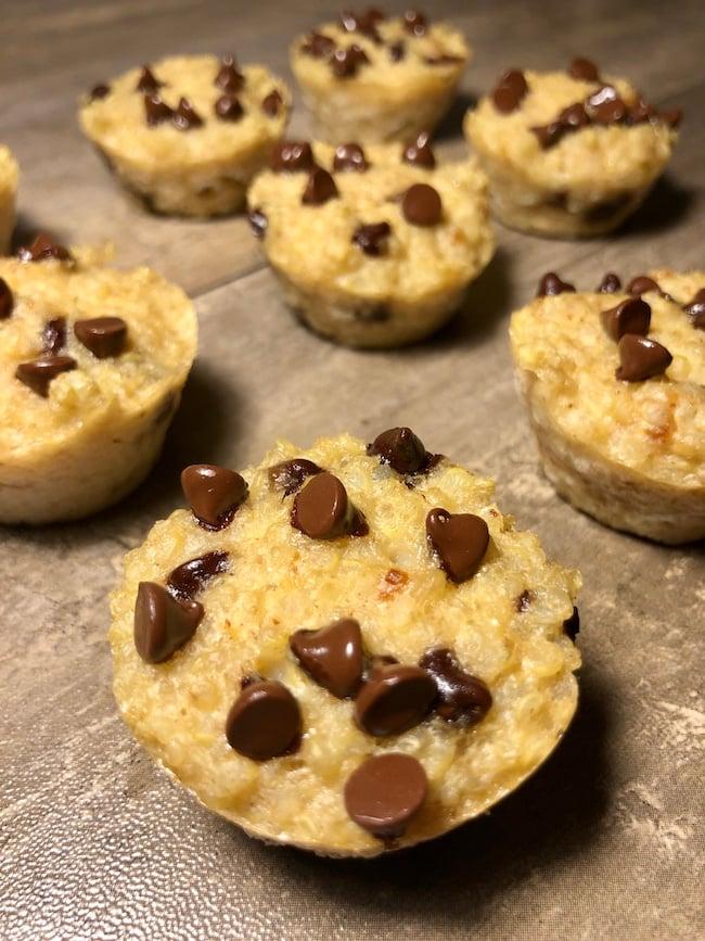 Peanut Butter Chocolate Chip Quinoa Bites