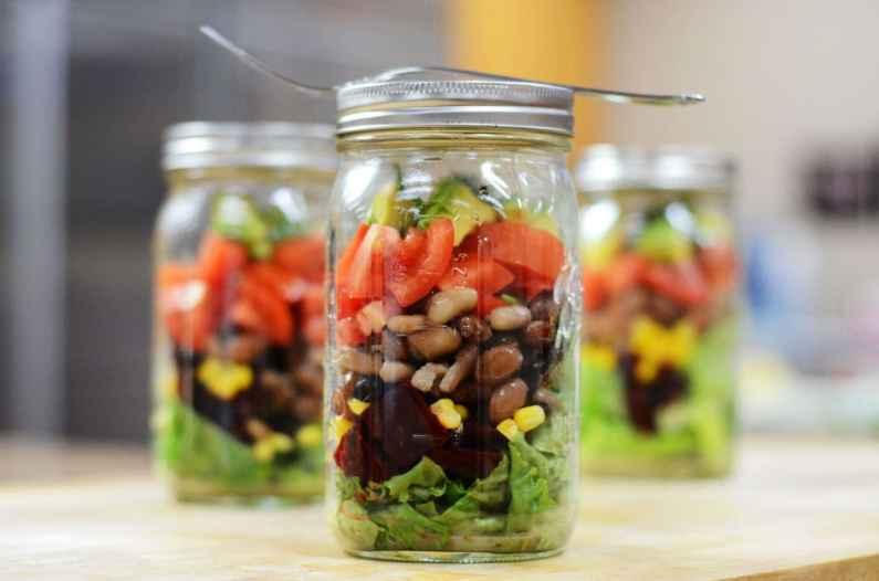 vegetarian salad in a gar recipe