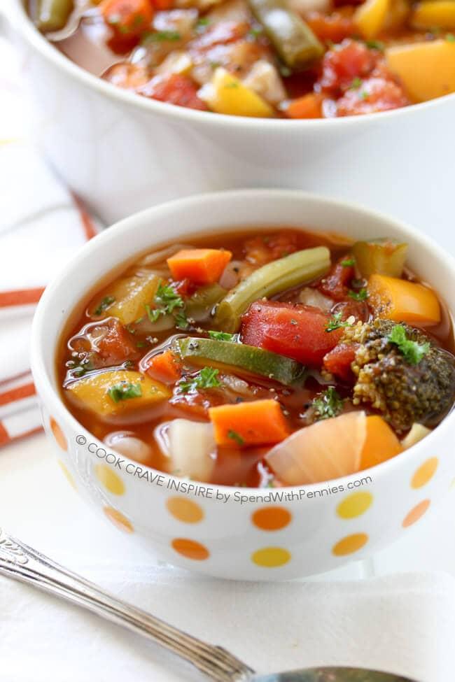 low calorie vegetable soup recipe