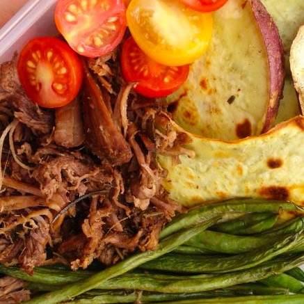 slow cooker roast meal prep