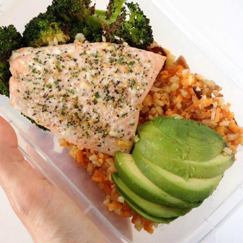 Salmon & Bacon Hash Meal Prep